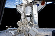 STS-133 Discovery seen from the Cupola
