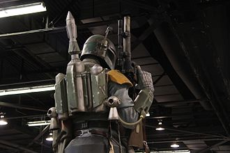 Technology in Star Wars - A replica of Boba Fett's outfit, which also includes a small seeker missile mounted on his jet pack.