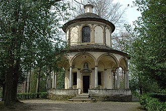 Sacro Monte di Orta - View of the Chapel 15, housing the St. Francis Receiving the Stigmata