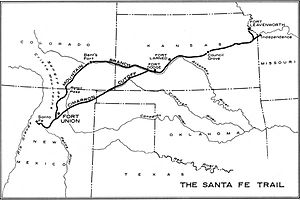 Fort Union National Monument - Image: Safe trail map NPS1962