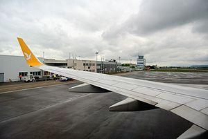 Saint-Étienne–Bouthéon Airport - Image: Saint Etienne Boutheon tarmac
