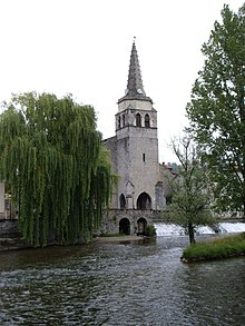 St Girons' Church by the Salat river