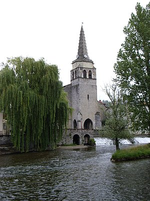 Saint-Girons, Ariège - St Girons' Church by the Salat river