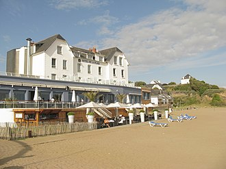 Les Vacances de Monsieur Hulot - The principal setting for the film, Hôtel de la Plage at Saint-Marc-sur-Mer (Saint-Nazaire), France, in 2009