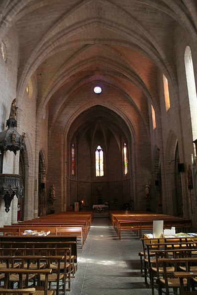 Saint-Pargoire (Hérault) - nef de l'église Saint-Pargoire.