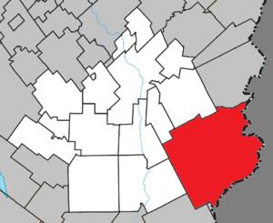Saint-Théophile, Quebec - Image: Saint Théophile Quebec location diagram