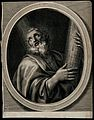 Saint Andrew. Line engraving by N. de Poilly. Wellcome V0031548.jpg