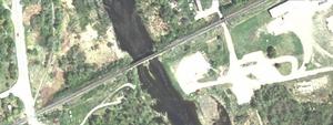 Saint Croix–Vanceboro Railway Bridge - Satellite view of the bridge.