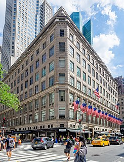 Saks Fifth Avenue Multinational department store chain founded in the United States