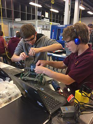 Salpointe Catholic High School - Salpointe's Robotics Class as part of their STEM Center