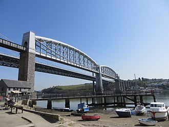 Isambard Kingdom Brunel - The Royal Albert Bridge spanning the river Tamar at Saltash