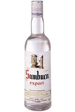 English: Bottle of Sambuca Franciacorta liquor