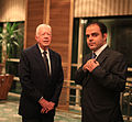 Sami Moubayed with US President Jimmy Carter - October 2010.jpg