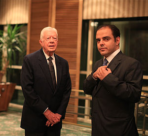 Sami Moubayed - Moubayed interviewing former US President Jimmy Carter