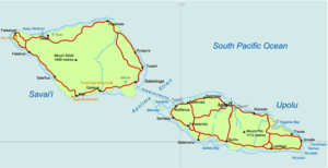 a map of samoa