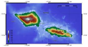 Samoa topography