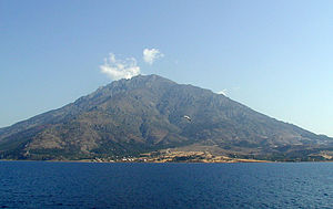 Samothrace - Samothrace, with Mount Fengari in the background.