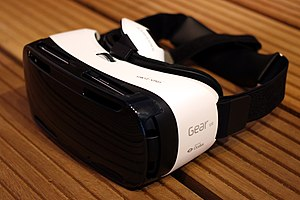 Virtual reality headset - Samsung Gear VR, a VR headset designed exclusively for use with Samsung Galaxy smartphones.