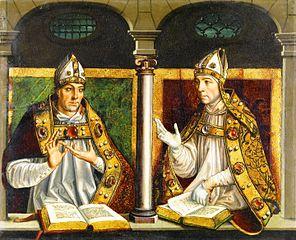 Saint Ambrose and Saint Augustine