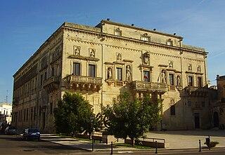 File san cesario di lecce palazzo wikimedia for Albanese arredamenti san cesario lecce