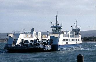 Sandbanks Ferry - Sandbanks Ferry in March 2003