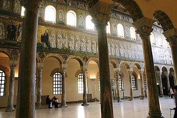 English: Main nave of the byzantine basilica o...