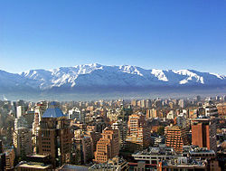 The Andes from Santiago.
