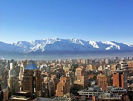 Santiago de Chile im Winter