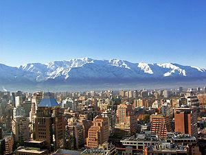 Vista del sector oriente de Santiago