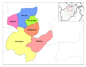 Sangcharak District in Sar-e Pol Province.