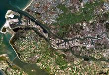 Rotterdam vista dal satellite
