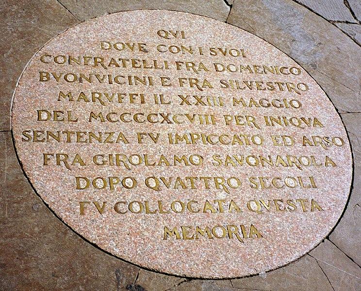 File:SavonarolaPlaque crop gobeirne.jpg