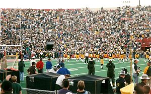 1999 NFL season - Photo of the Green Bay vs. Denver preseason game at Camp Randall Stadium on August 23, 1999