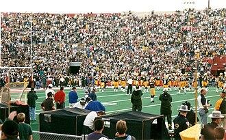 1999 Green Bay Packers season - Green Bay hosts the Denver Broncos in preseason at Camp Randall Stadium, August 23, 1999
