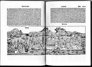 Venice in 1493, German illustration.