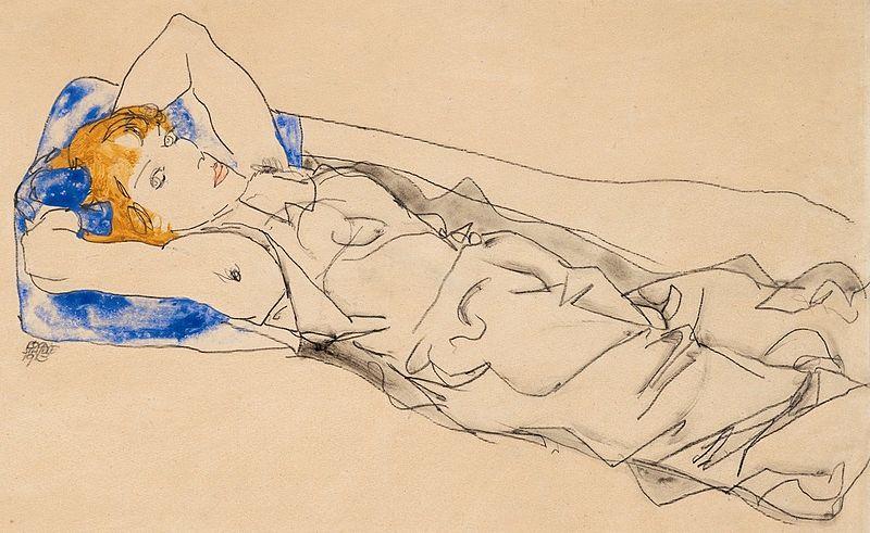 File:Schiele - Mädchen mit blauem Polster - 1913.jpg