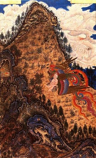 Simurgh - Zal and the Simurgh.