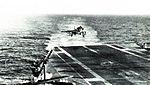Scimitar F1 of 800 NAS landing on USS Essex (CVS-9) in November 1963.jpg