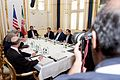 Secretary Kerry and Advisers Sit With Iranian Foreign Minister Zarif in Austria Before Resuming Nuclear Program Negotiations - 18604920584.jpg