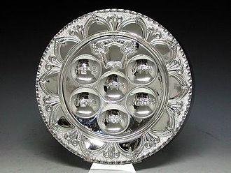 Passover Seder plate - Sterling silver seder plate