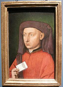 Seguace di jan van eyck, ritratto di marco barbarigo, 1449-50 ca.