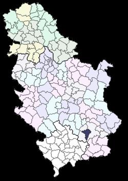 lebane mapa srbije Општина Лебане — Википедија, слободна енциклопедија lebane mapa srbije