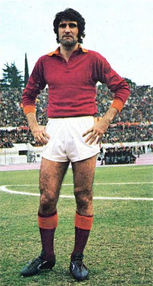 Sergio Santarini - Santarini with Roma in 1974