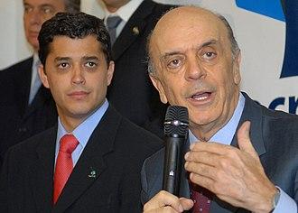 Antônio Pedro de Siqueira Indio da Costa - Indio da Costa and José Serra.