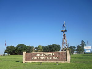Shallowater, Texas - Shallowater welcome sign