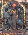 Shani dev statue at Naksaal Bhagwati Temple.jpg
