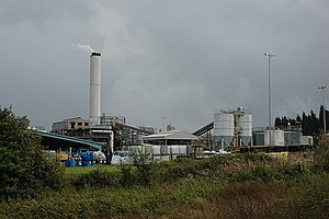 English: Shanks McEwan incinerator, Hardley. F...
