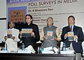 Shashi Tharoor releasing 'Poll Surveys In Media An Indian Perspective', a book by Dr. N Bhaskara Rao, brought out by National Book Trust (NBT), in New Delhi. The Election Commissioner.jpg