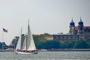Shearwater (schooner) - Image: Shearwater by Ellis Island
