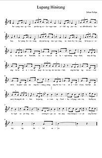Lupang Hinirang National anthem of the Philippines